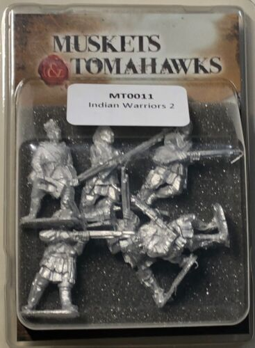 Muskets /& Tomahawks 28mm Indian Warriors 2 6 New-Free Shipping!