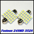 2x Bombilla Led coche Festoon 36mm 39mm 41mm 31mm 3528 SMD 24 LED