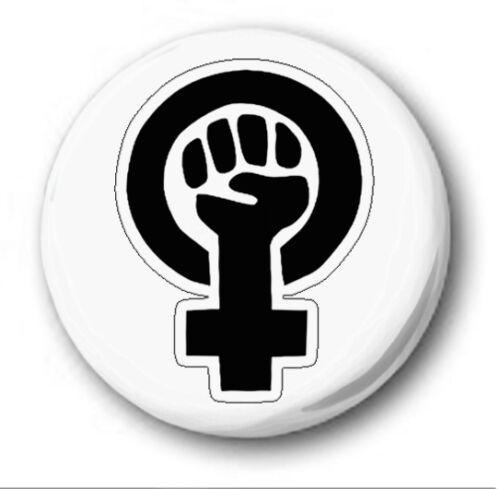 "25mm Button Badge 1/"" FEMINISM Novelty Suffragette Women"