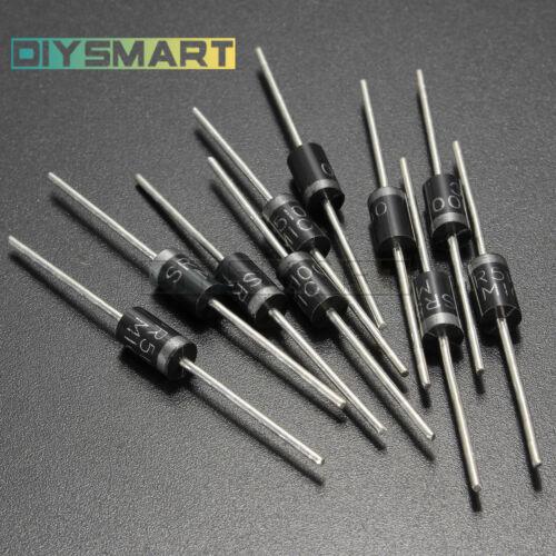 10PCS//20PCS SR5100 5A 100V Schottky Rectifiers Diode IU DO-201AD AU