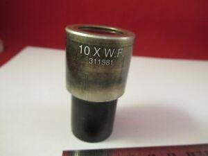 BAUSCH-LOMB-311581-OCULAR-EYEPIECE-OPTICS-MICROSCOPE-PART-AS-PICTURED-amp-66-A-96