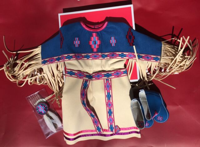 American Girl Pow-Wow Dress Of Today For Kaya 18 Inch Free Shipping