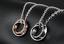 Coppia-collana-Anelli-Uomo-Donna-Unisex-cuore-incisione-personalizzata-acciaio miniatura 2