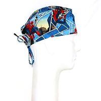 Frog Spiderman On Blue Theme Scrub Hat