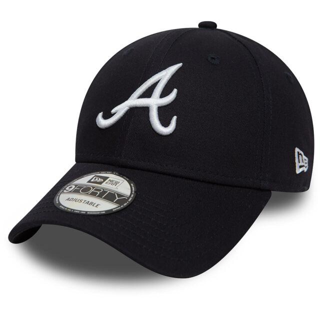 NEW ERA MENS ATLANTA BRAVES BASEBALL CAP.9FORTY MLB LEAGUE ESSENTIAL HAT  8W2 84 84aa570e0a