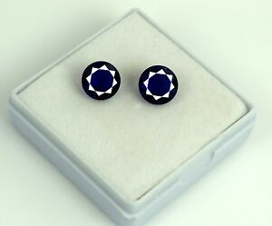 Blue-Tanzanite-Loose-Gemstone-Matching-Pair-4-35-Ct-Natural-Round-AGSL-Certified