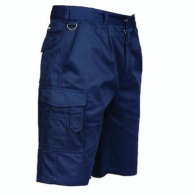 Warnen Mens Portwest S790 Combat Cargo Workwear Shorts With Pockets Feine Verarbeitung