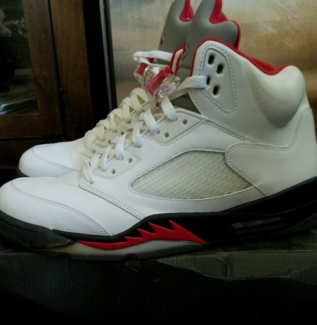2013 Air Jordan Retro 5 Reflct Silver   White   Red Deadstock Size 12 NWB