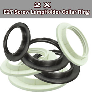 2xE27-Screw-Lampshade-Lamp-Light-Shade-Collar-Ring-Adapter-Bulb-Holder-2-Color