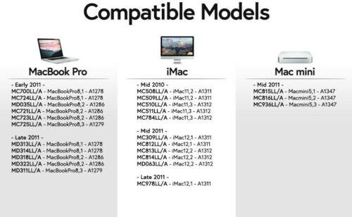 8GB KIT 2X 4GB PC3-10600 APPLE MacBook Pro APPLE iMac APPLE Mac mini MEMORY RAM