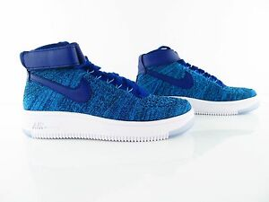 Nike Air Force 1 AF1 Flyknit Blue Lagoon Multicolor New UK 5.5 US 8 EUR 39