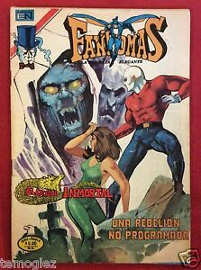 Fantomas No. 2-468 Rebelión no programada Vintage Mexican comic Novaro July 1980