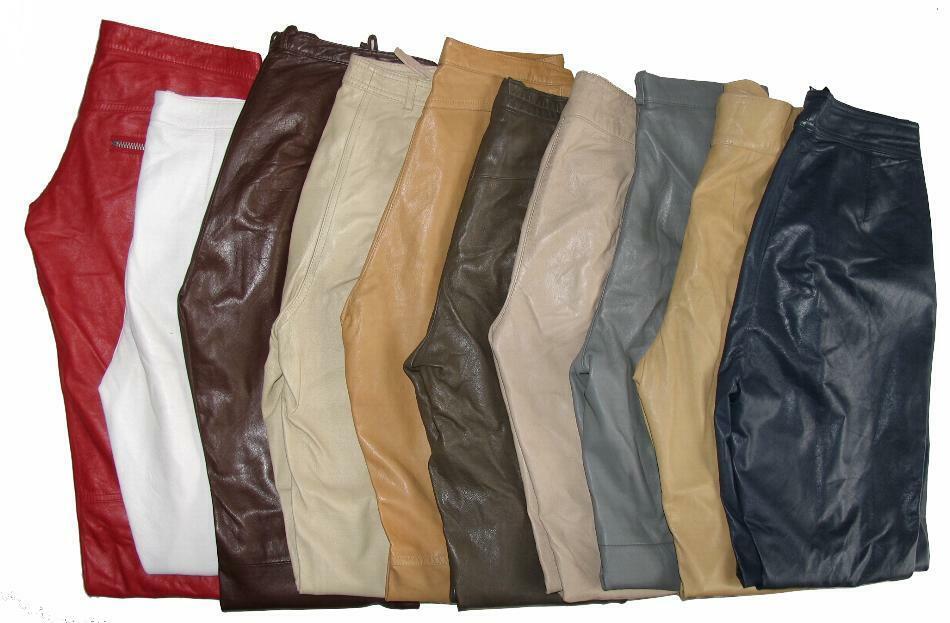 10 getragene Damen- LEDERHOSE (n) in versch. Größen + Farben aus GLATTLEDER!