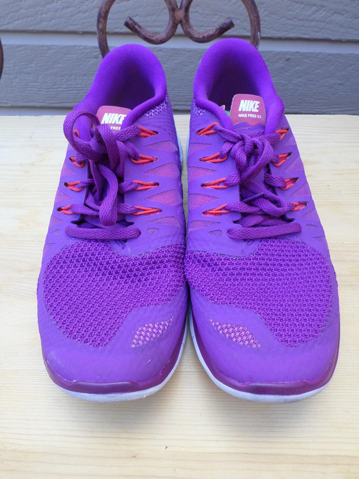Nike Free 5.0 Purple Running shoes Women's 7.5  (642199-501)