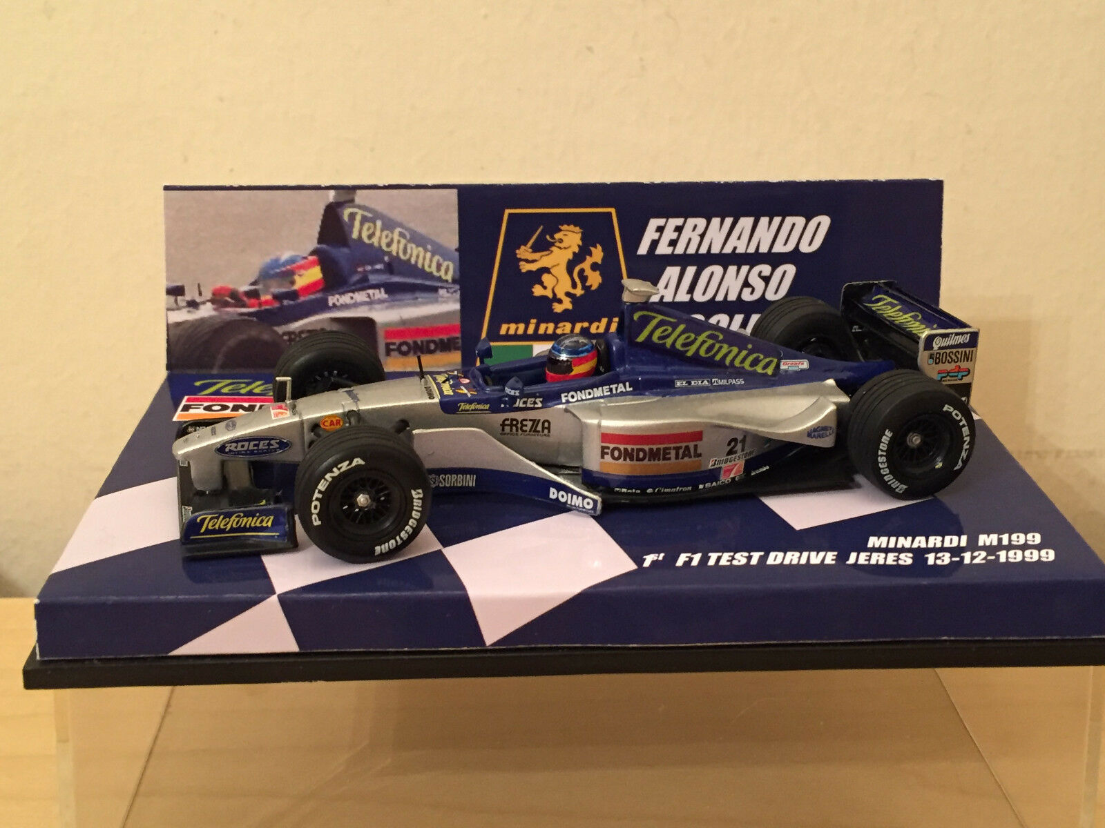 1 43 MINICHAMPS Minardi Ford M01 F ALONSO 1st F1 TEST 1999