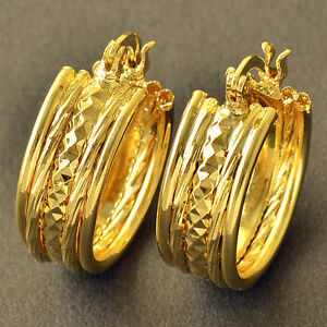 10K-Yellow-Gold-Filled-GF-Hoop-Earrings-Earings-17mm-ID-8mm-Wide