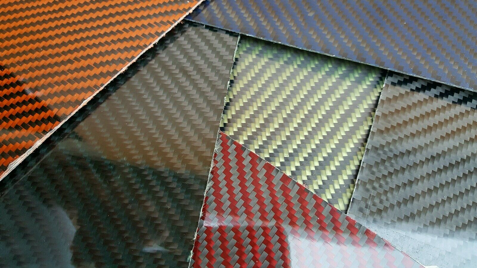 Carbon Fiber Kevlar Fiberglass Panel 6 ×18 ×3 16  Glossy Both Sides COLOR CHOICE