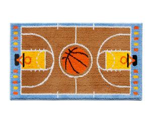 Tappeto-cameretta-80X140-cm-bambino-morbido-shaggy-camera-campo-basket-pallone