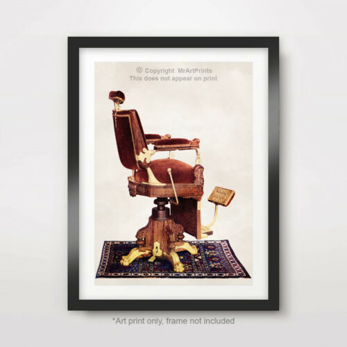 VICTORIAN BARBER CHAIR ART PRINT POSTER Picture Wall Decor A4A3A2 10 SIzes !!!!!