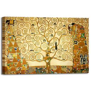 Gustav Klimt albero della vita quadro stampa tela dipinto telaio arredo casa