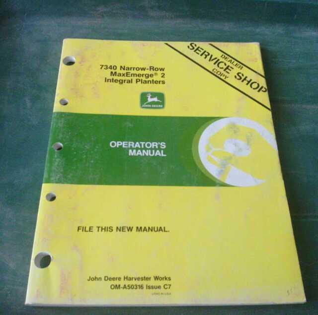 John Deere 7340 Maxemerge 2 Oma50316 Integral Planter Operators Manual