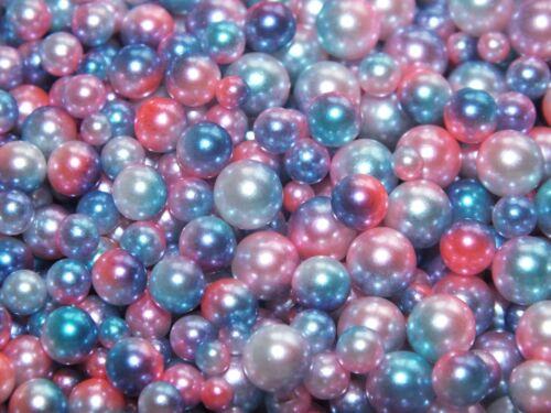 20g Mixed 3,4,5,6mm Caviar Pearl Beads No Hole Rainbow Mermaid Bubblegum Bubbles