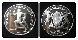 BOTSWANA-KM-21-Five-Pula-von-1988-in-PP-Proof-471079
