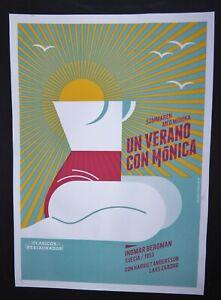 SUMMER-WITH-MONIKA-Cuban-Screenprint-Art-Poster-for-Swedish-Bergman-Movie-CUBA