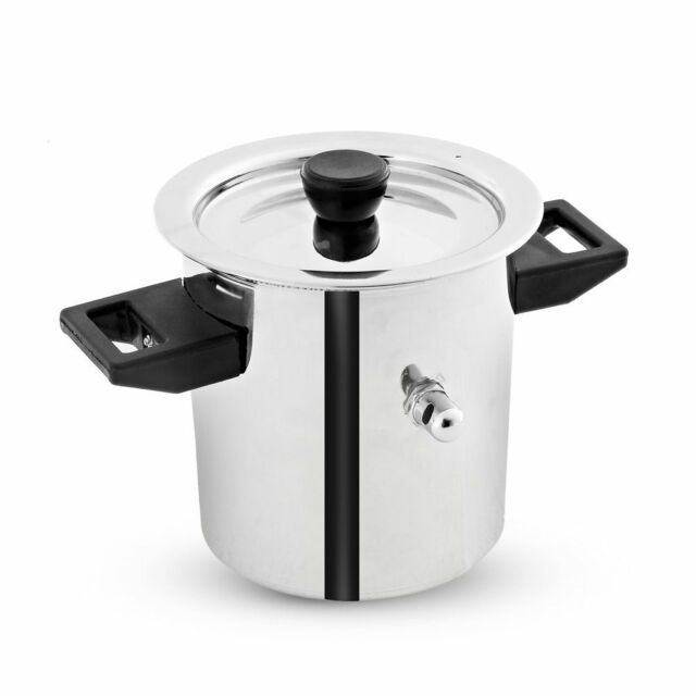 Stainless Steel Induction Compatible MILK BOILER Cooker With Boil Whistle, 2 L R