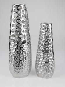Jarrón de 60cm alu-coral aluminio con avance forjada elementos 623973