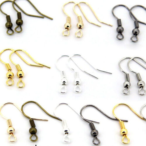 100PCS DIY Wholesale Earring Hook Coil Ear Wire For Jewelry Making Findings Hot
