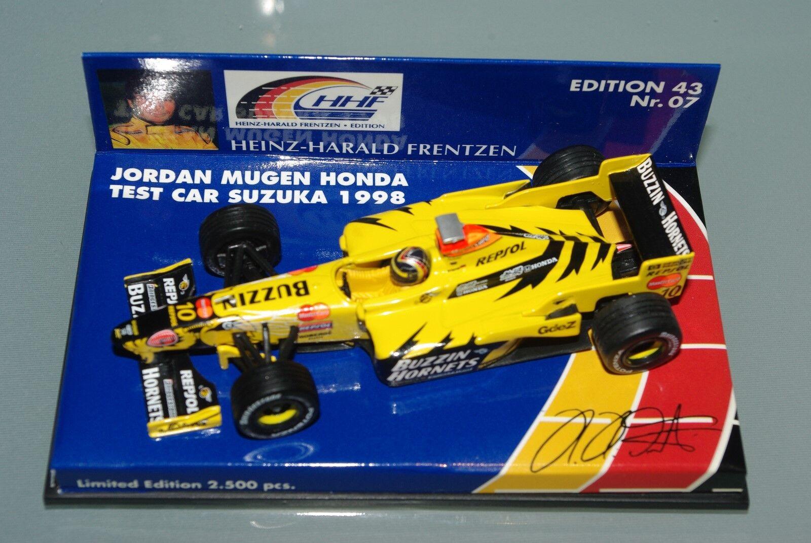 Minichamps F1 1 43 Jordan Mugen Honda prueba coche Suzuka 1998-HH Frentzen