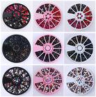 3D Nail Art Rhinestones Glitters Acrylic Tips Decoration Manicure Wheel Beads