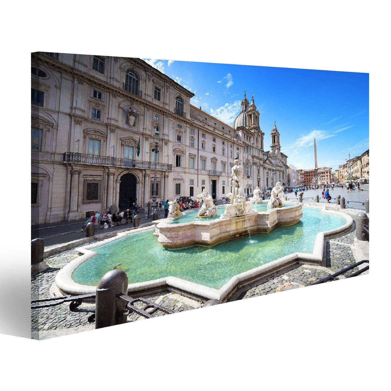 Bild Bilder auf Leinwand Piazza Navona Rom Italien Italien RQI