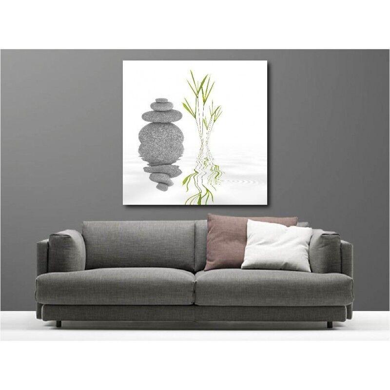 Canvas fabric deco square pebble bamboo 42234022