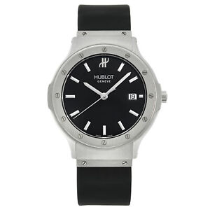 Hublot Classic Fusion 36mm Stainless Steel Black Dial Quartz Mens Watch B 1525.1