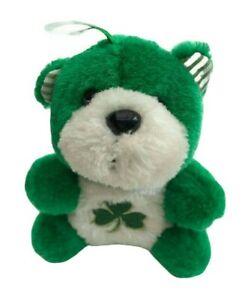 Allieo-Green-Teddy-Bear-Shamrock-Clover-Hanging-Soft-Plush-Toy-KIDDIEFUN-15cm