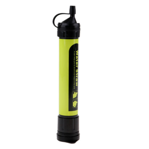 Water Filter Straw Purifier Gear For Camping Hiking Emergency Survival