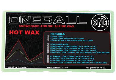 750g One Ball Jay X-Wax Warm Snowboard Wax   Bulk Flouro