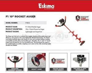 """F1r10 Eskimo F1 10"""" Rocket Power Ice Auger Garantie 5 Ans-afficher Le Titre D'origine"""