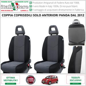 COPPIA COPRISEDILI Anteriori FIAT PANDA 2012 in poi Fodere Foderine Antracite 18