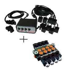 HYDRAULIC BANK MOTOR 4 SPOOL VALVES 80 L/MIN ELECTRIC 12V  Control Panel YouTube