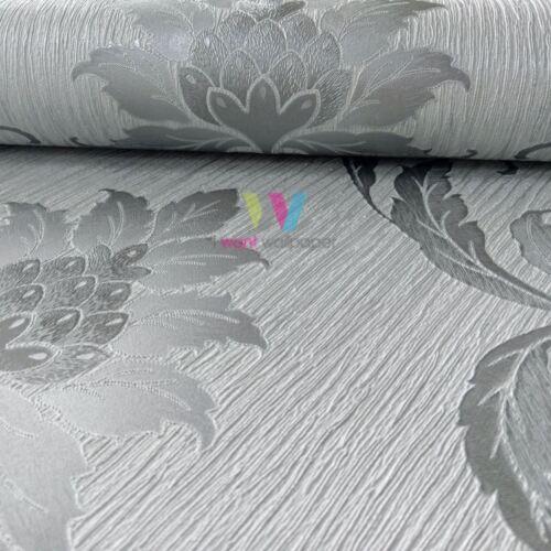Holden Viviani Damassé Motif Papier Peint Métallique Texturé Feuille Vinyle 35590