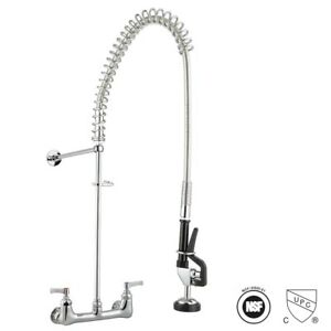 Aquaterior Commercial Pre Rinse Kitchen Sink Faucet Pull Down