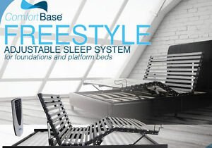 GLIDEAWAY FREESTYLE ADJUSTABLE BED DESIGNED FOR PLATFORM BEDS** ALL SIZES