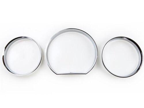 * For Mercedes Benz W124 E Class Chrome Dash Gauge Ring Set