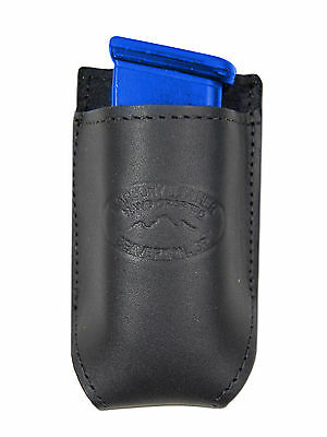 NEW Barsony Black Leather Single Magazine Pouch for Ruger Compact 9mm 40 45