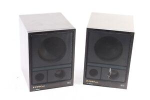 2 x Star Radio Speaker Bass Reflex Box B2000 B3010 HiFi GDR Old Vintage