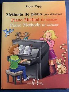 Partitura Piano Papp Metodo De Piano Para Principiantes Ebay