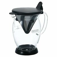 Hario Two Cup Kettle Stainless Steel Drip Coffee Makers, Black, New, Free Shippi on Sale